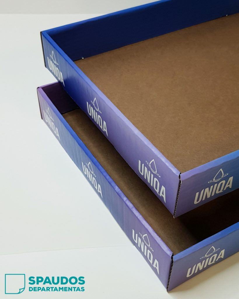 spauda ant kartoninių pakuočių