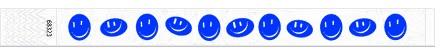 25mm šypsenėlių teksturos kontrolinės apyrankės