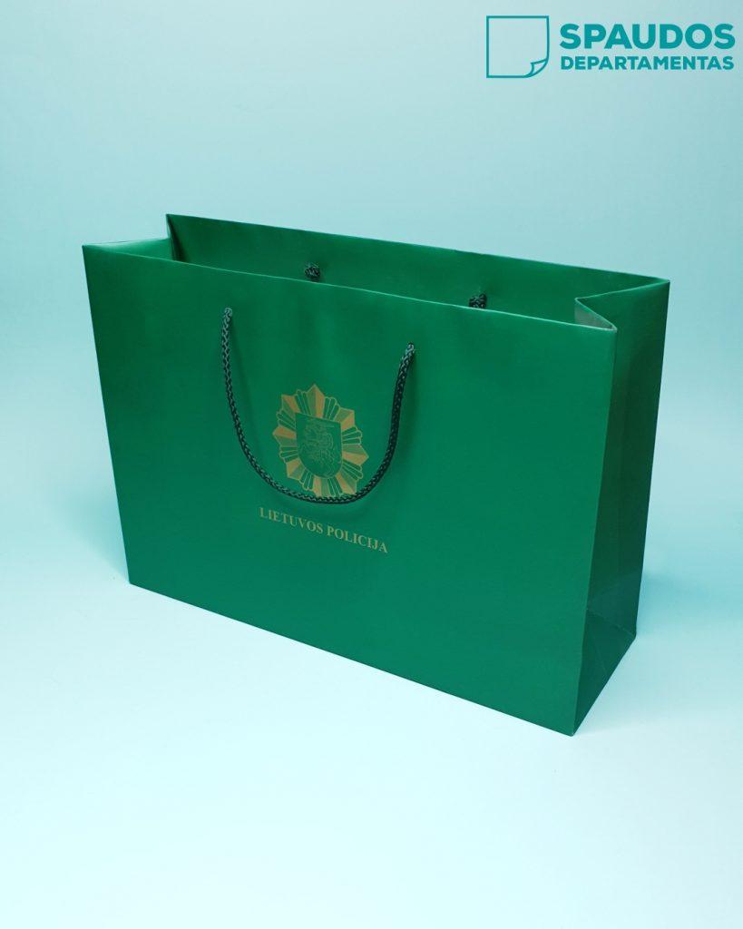 popieriniai maišeliai su rankenėlėmis