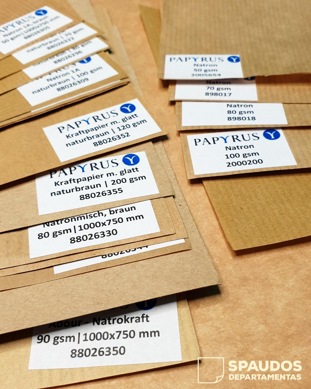 ekologiski popieriniai maiseliai SPAUDOS DEPARTAMENTAS