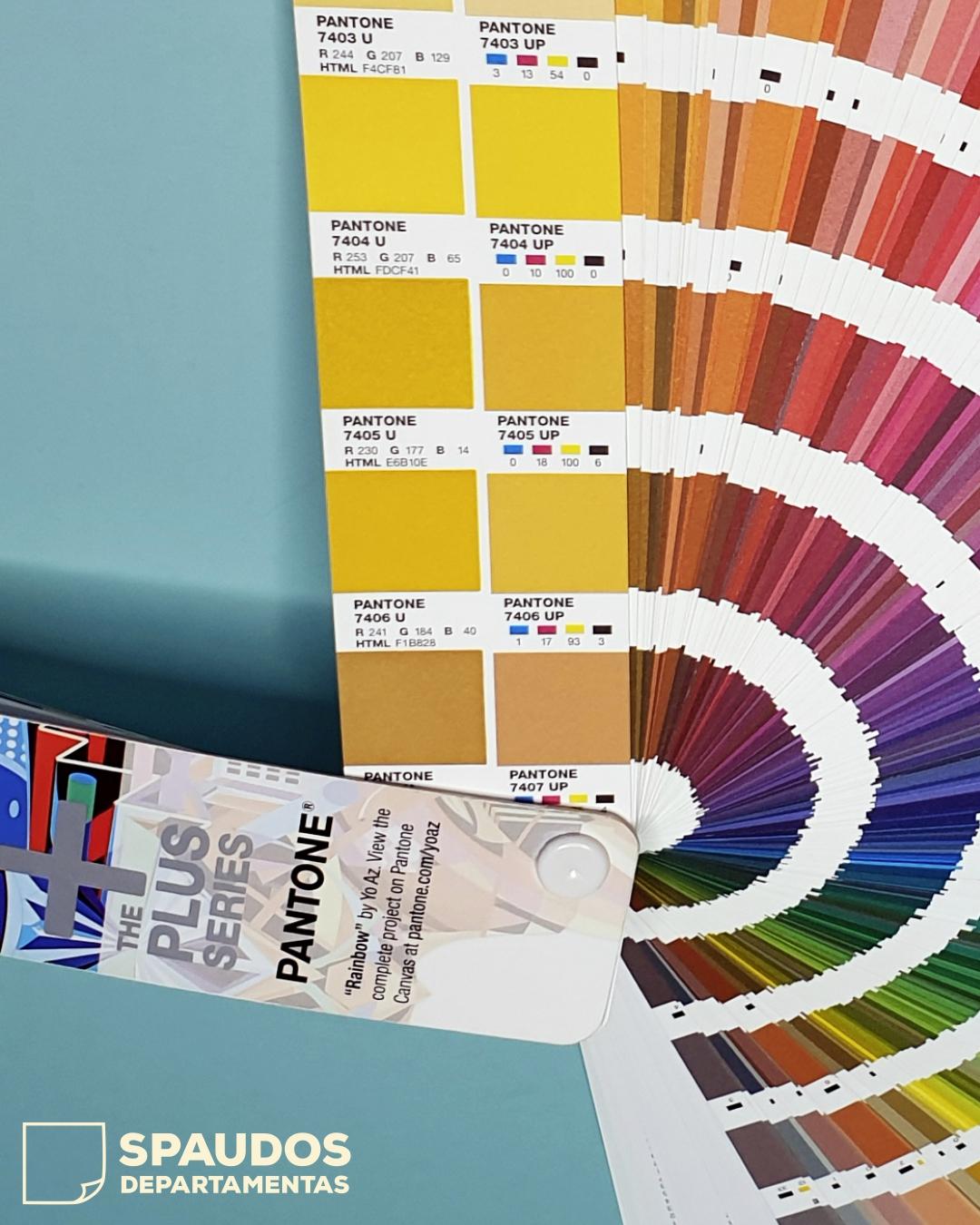 pantone spalvų paletė SPAUDOS DEPARTAMENTAS