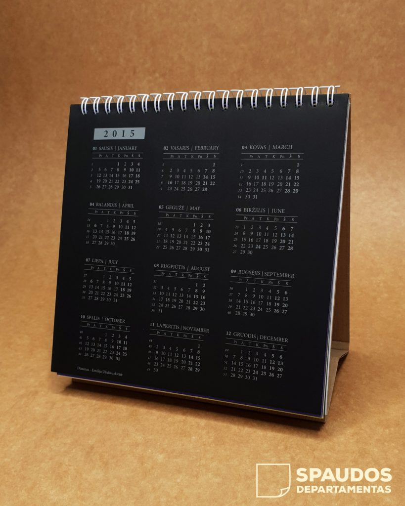 Kalendorius 2020 | Spaudos Departamentas