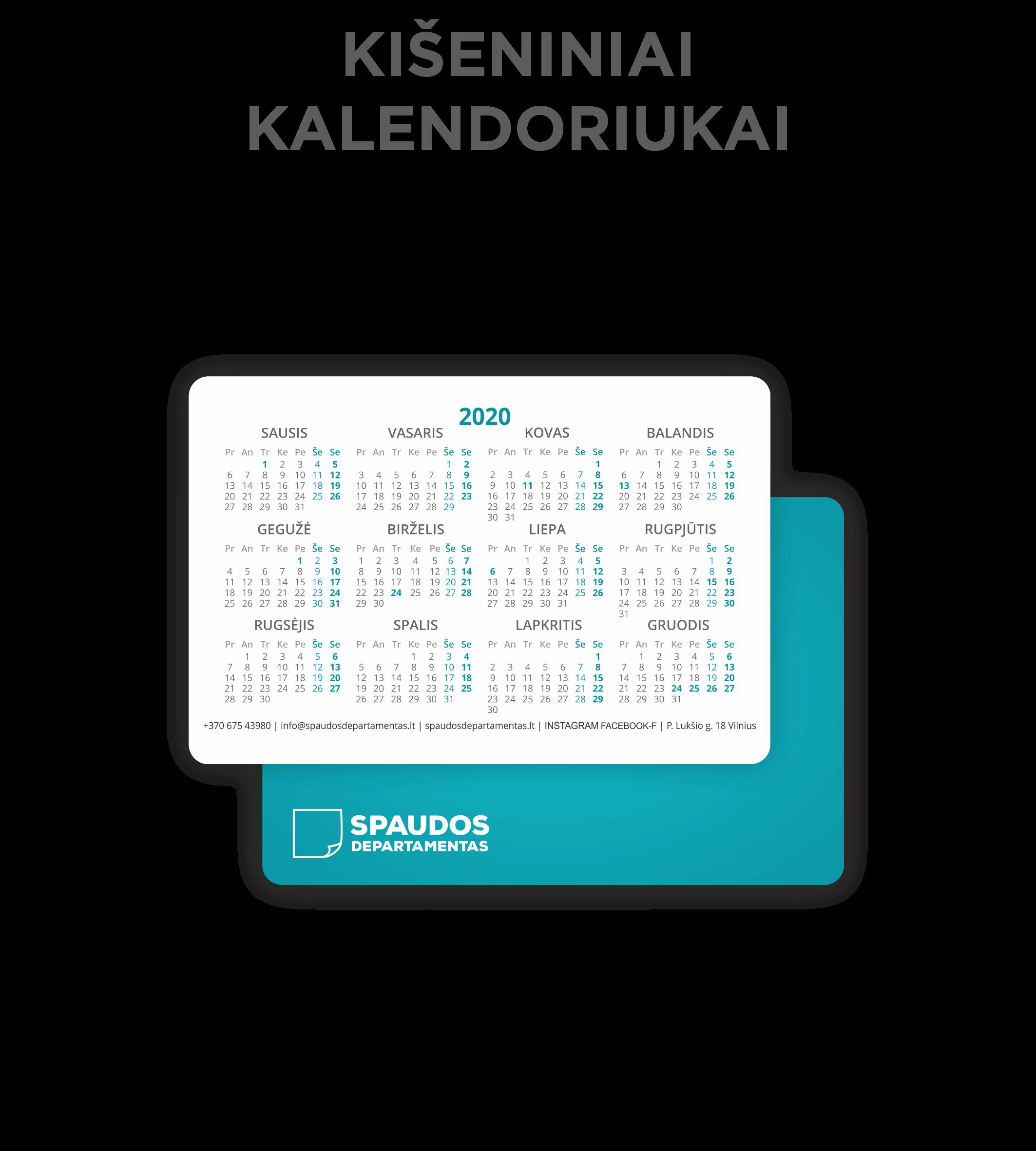 Kišeniniai kalendoriai