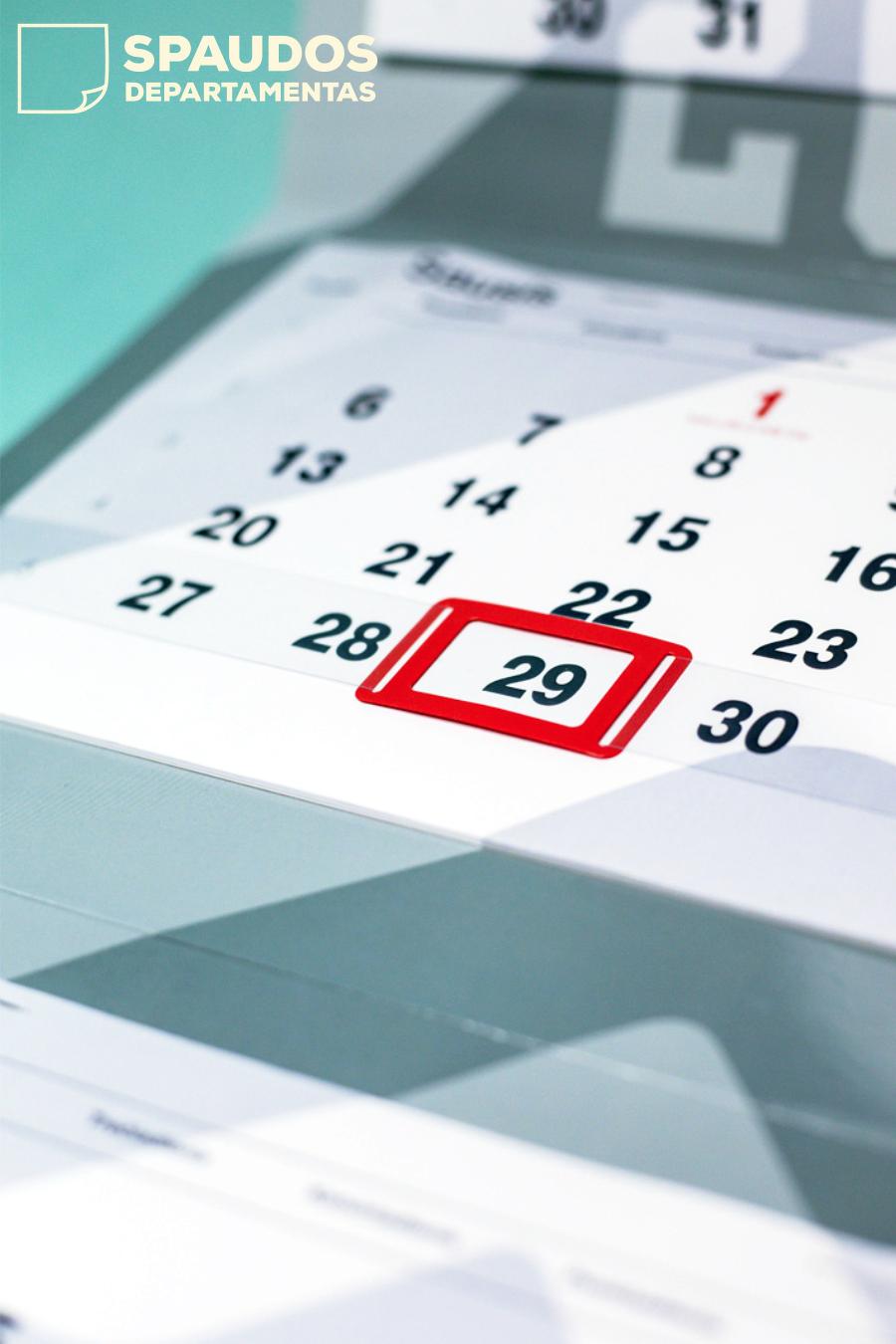 Kalendorių spauda | Spaudos Departamentas