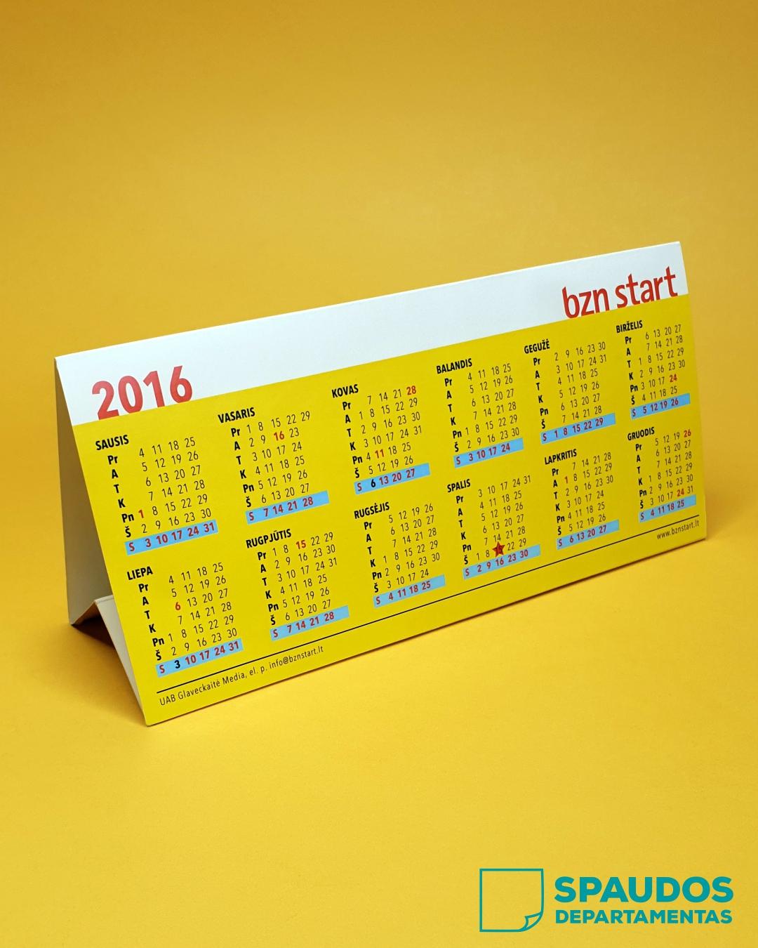 Stalo kalendoriai | Spaudos Departamentas