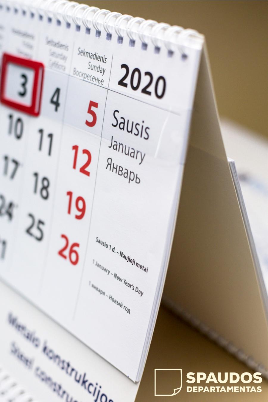 Sieniniai kalendoriai | Spaudos Departamentas