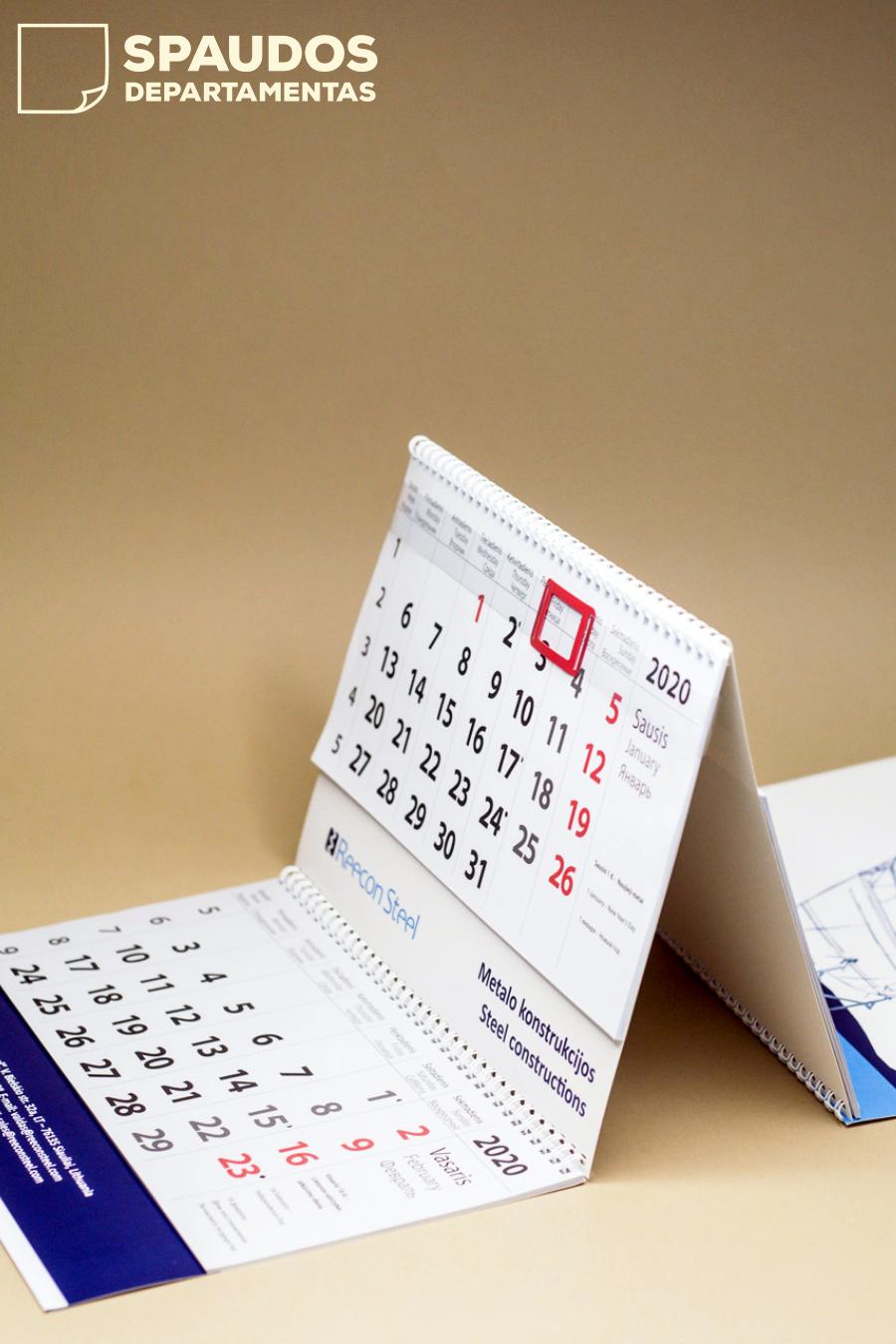 Kalendoriai su spauda