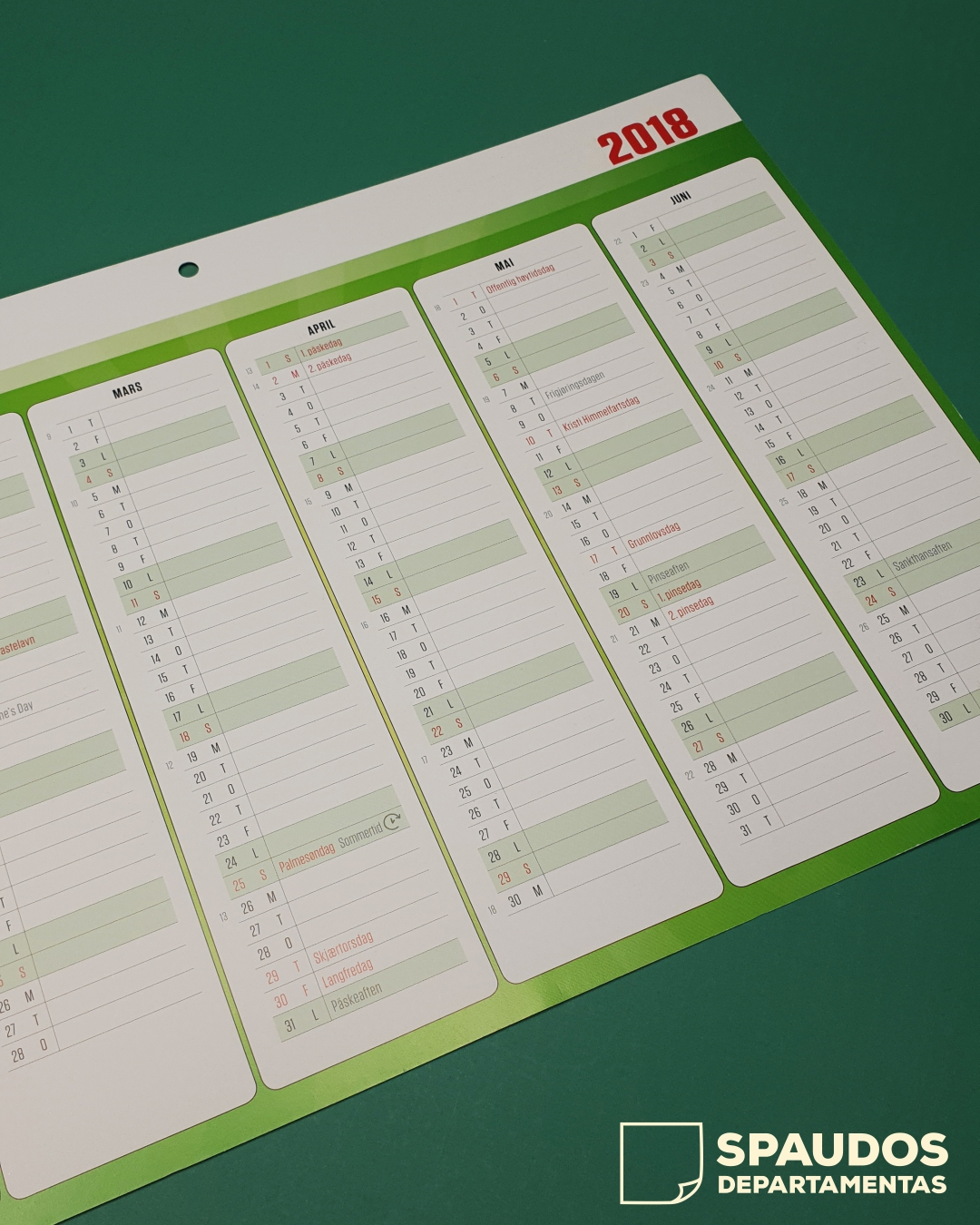 Darbo kalendorius 2021 | Spaudos Departamentas