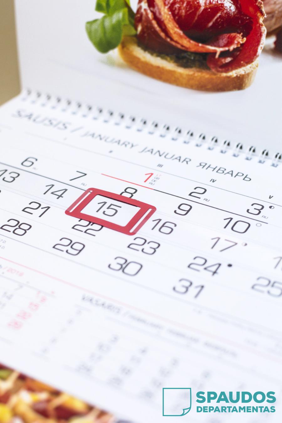 Kalendorių spauda