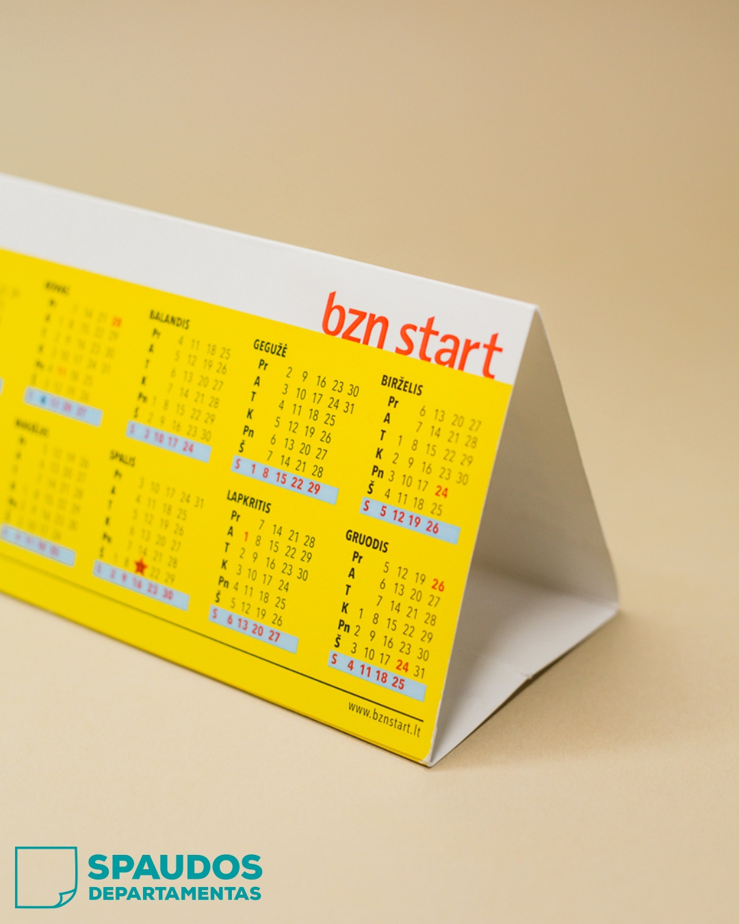 Kalendoriai su spauda | Spaudos Departamentas
