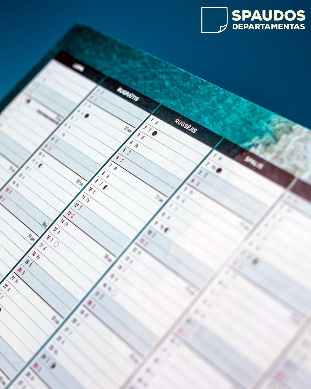 Darbo kalendoriai | Spaudos Departamentas