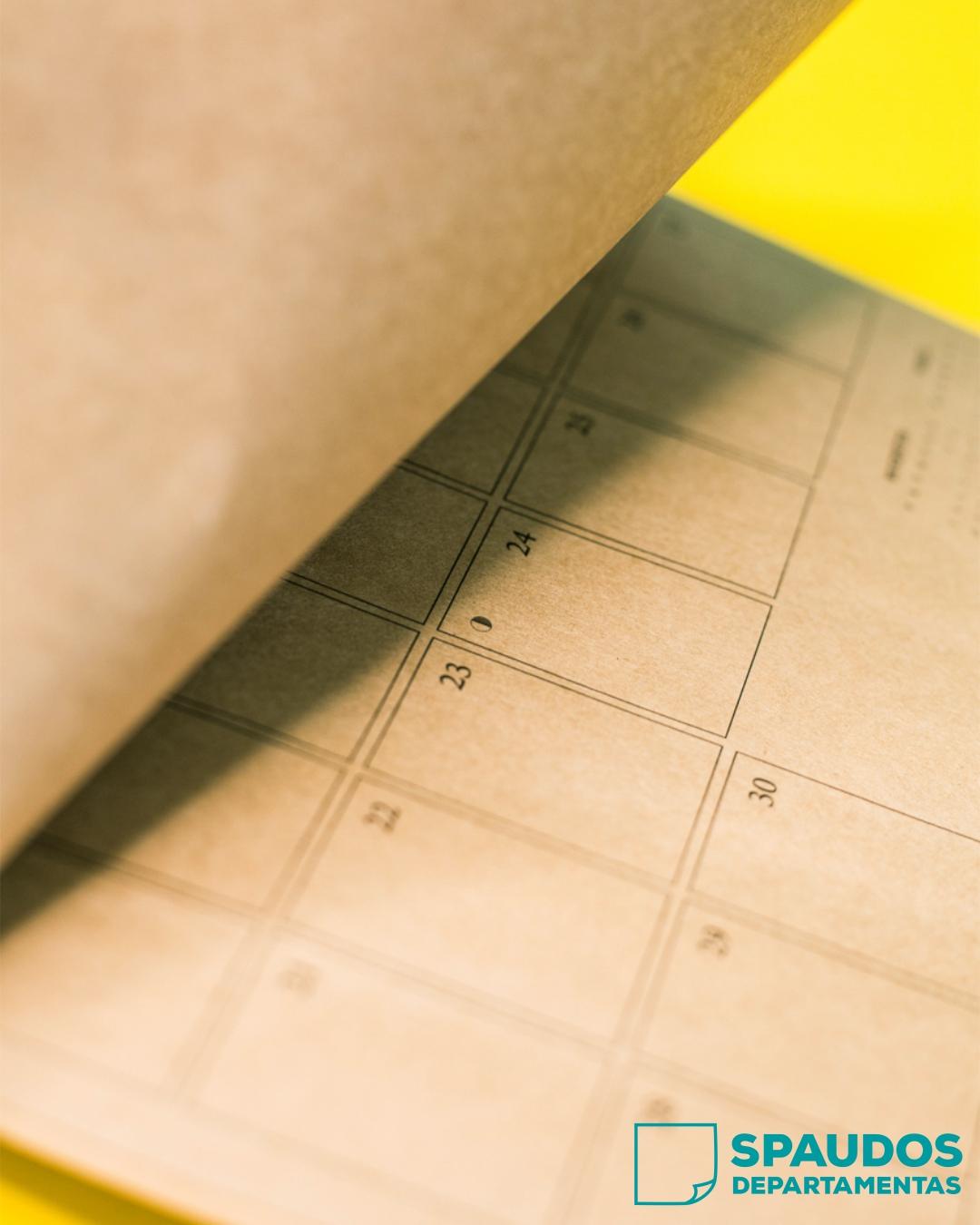Darbo kalendorius 2021