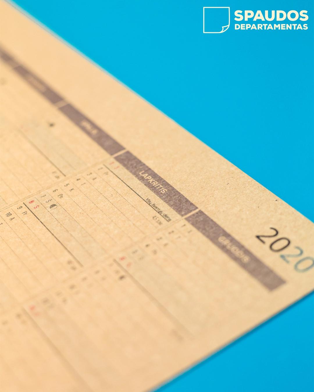 Kalendorių gamyba | Spaudos Departamentas